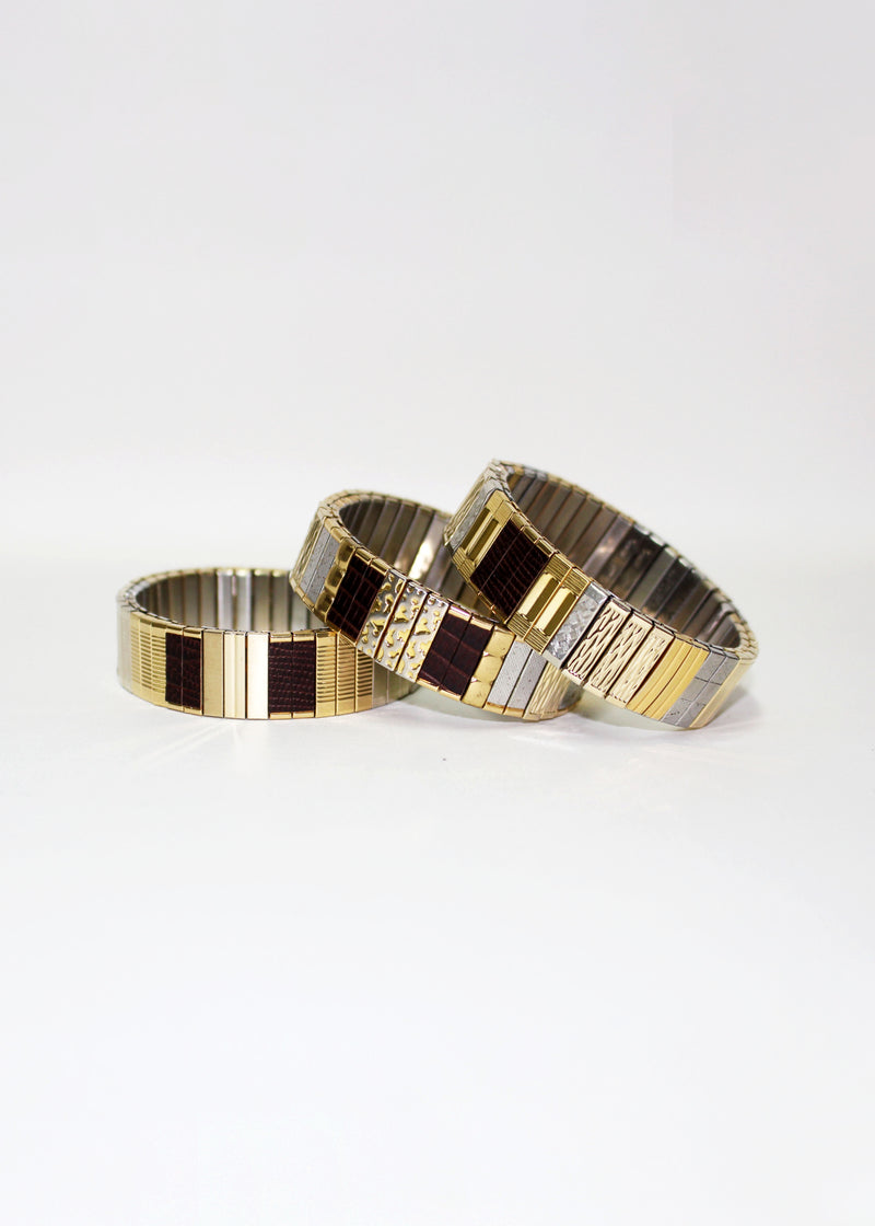 BROWN TONE BANDS BRACELET - LIMITED EDITION
