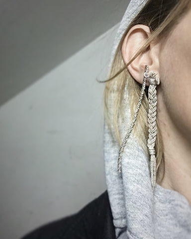 SILVER BRAID EARRINGS