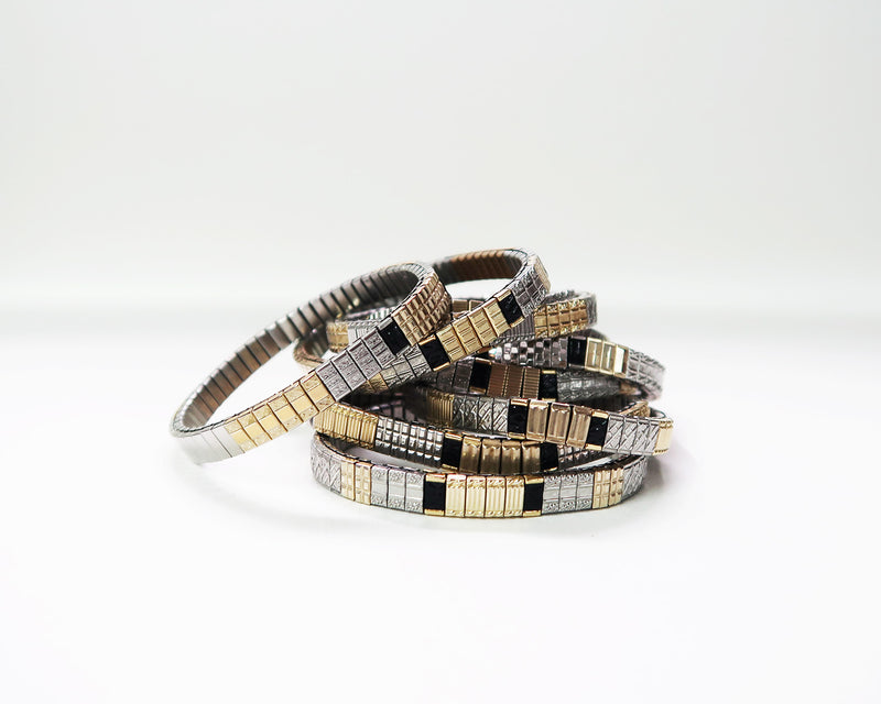 THIN MIX COLOR BANDS BRACELET