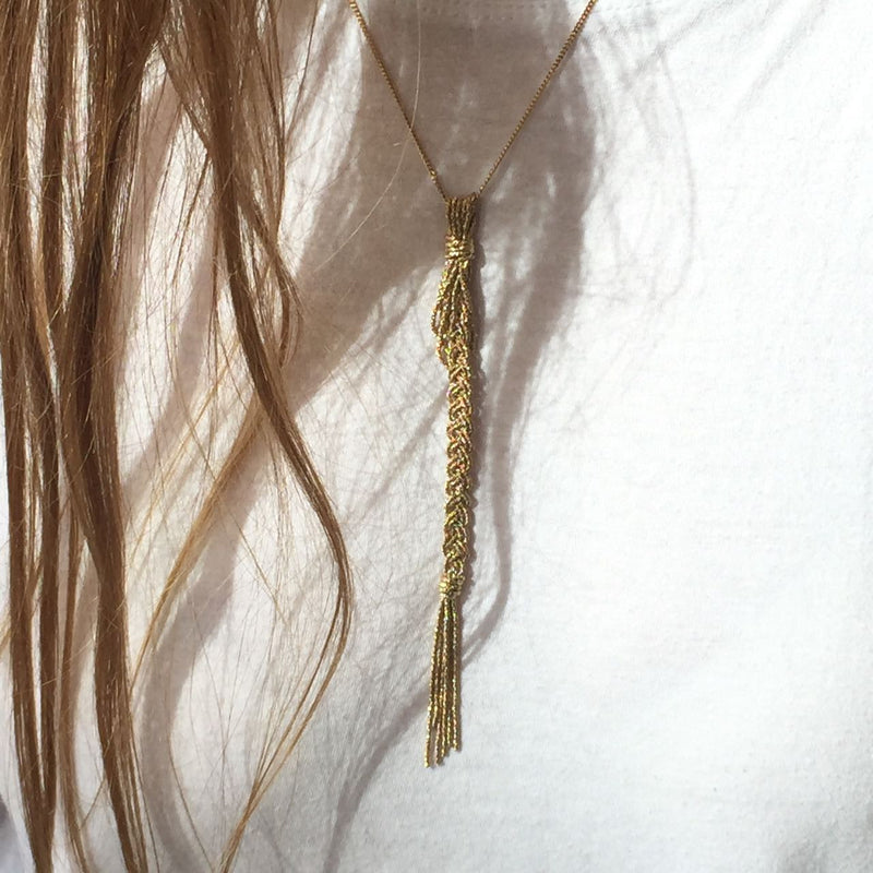 BRAID NECKLACE - Ruby Star