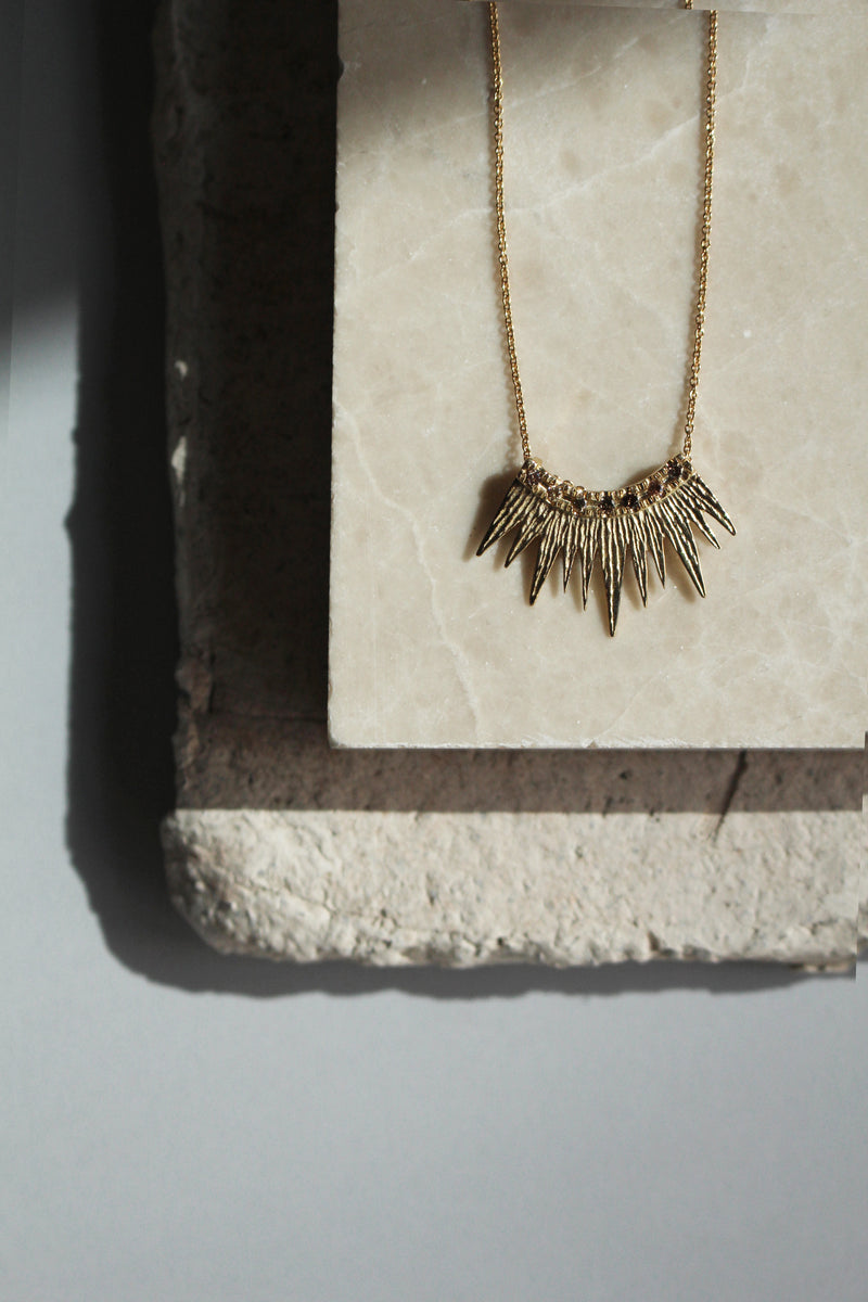14K GOLD RAY DIAMONDS NECKLACE