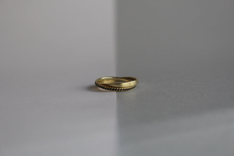 14K GOLD  DUALITY RING