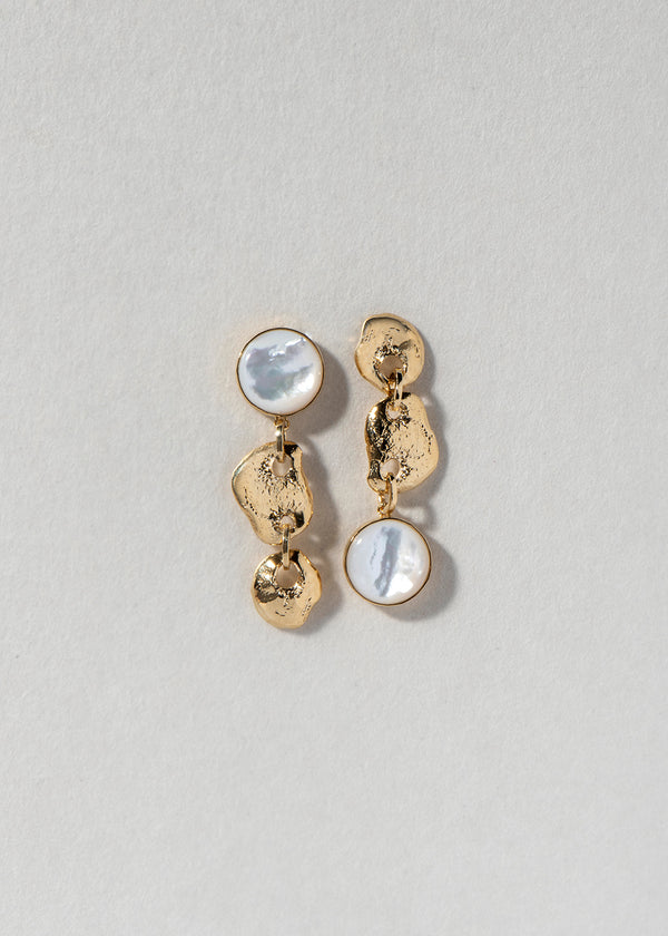 MOON ROCK EARRING