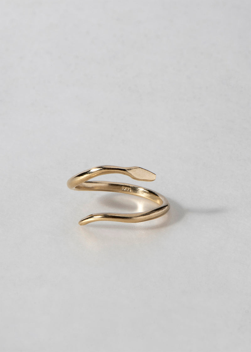 MINIMALIST GOLD SERPENT RING - Ruby Star