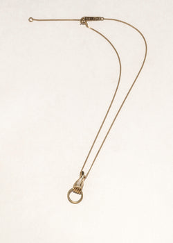 SOLID HAND NECKLACE - Ruby Star