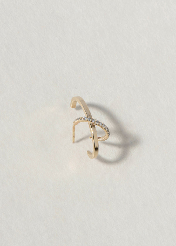 GOLD DUALITY EARRING