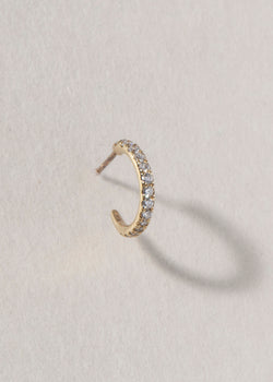GOLD DIAMOND HOOP
