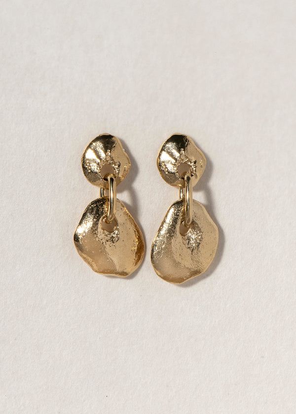 DOUBLE ROCK EARRING