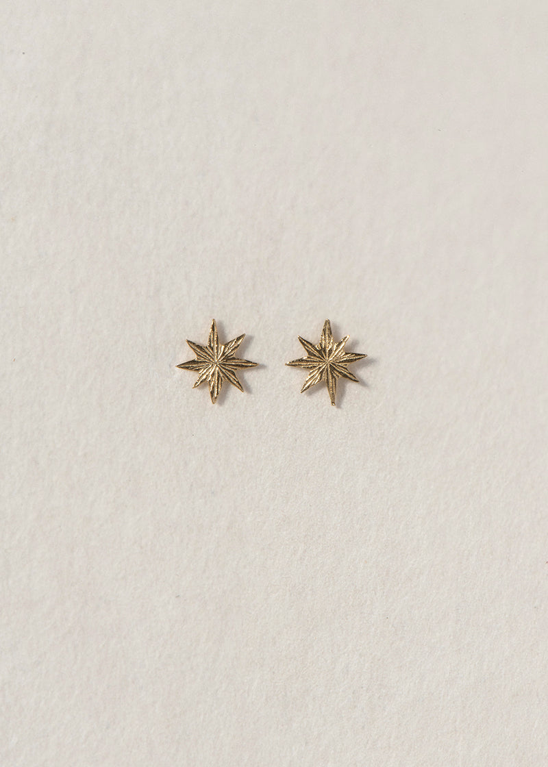14K GOLD STAR EARRINGS