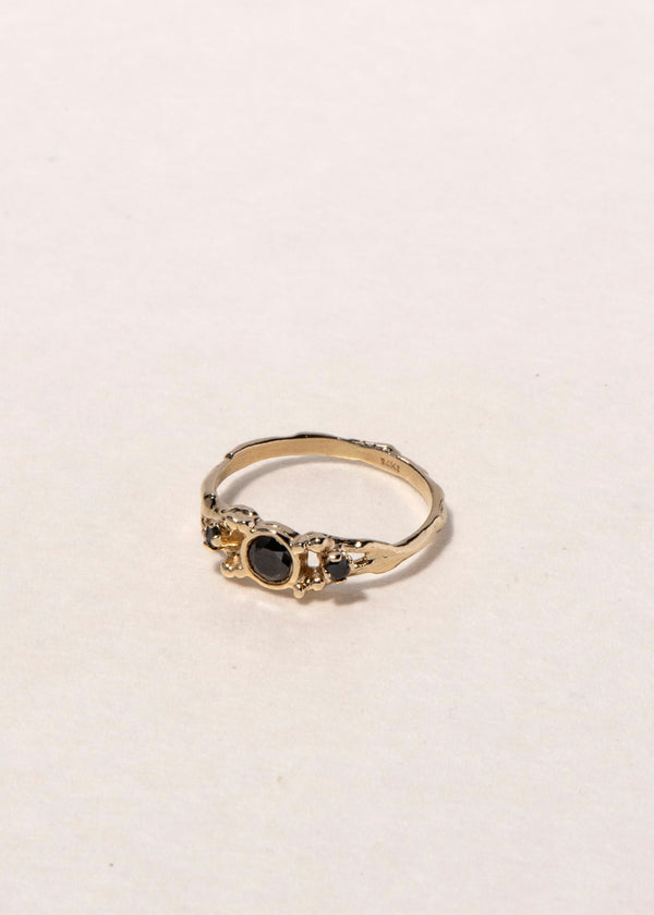 14K black  DIAMONDS TRILOGY RING
