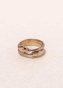 GOLD SNAKE RING - Ruby Star