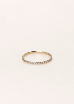 GOLD ULTRA THIN ETERNITY RING - Ruby Star