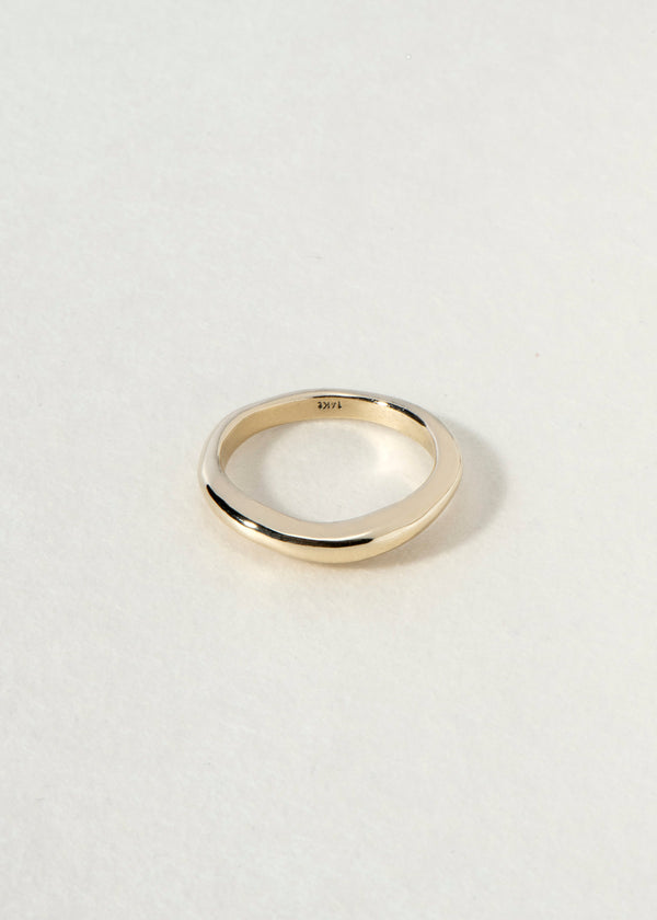 14K gold curve II RING