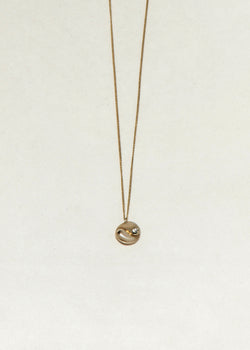 GOLD YIN YANG NECKLACE - Ruby Star