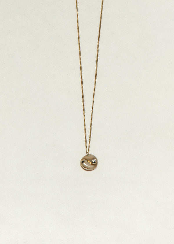 GOLD YIN YANG NECKLACE