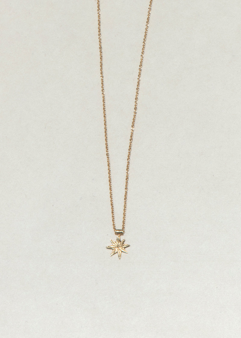 GOLD STAR NECKLACE - Ruby Star