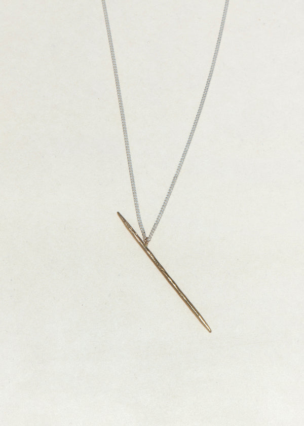GOLD TOOTHPICK NECKLACE - Ruby Star