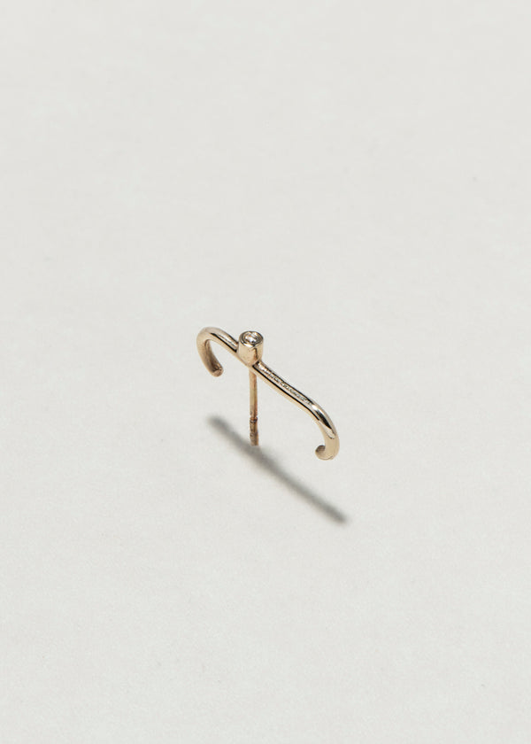 14K GOLD U  DOT EARRING