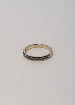 GOLD HALF ETERNITY RING - Ruby Star