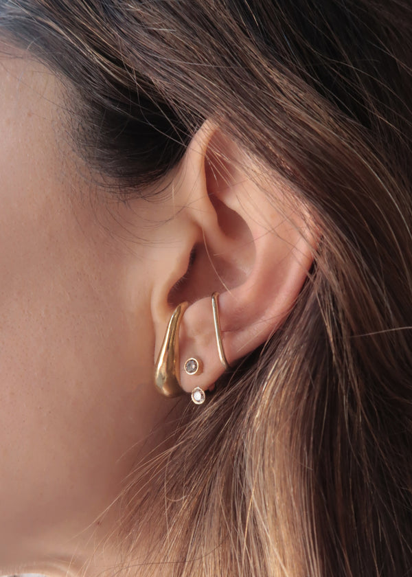GOLD TINKER EARRING - Ruby Star