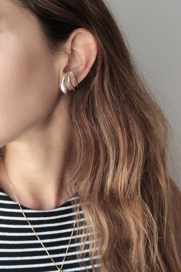 SILVER DROP EARRING