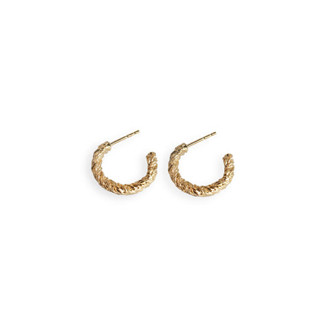 GOLD MINI LOOP EARRINGS