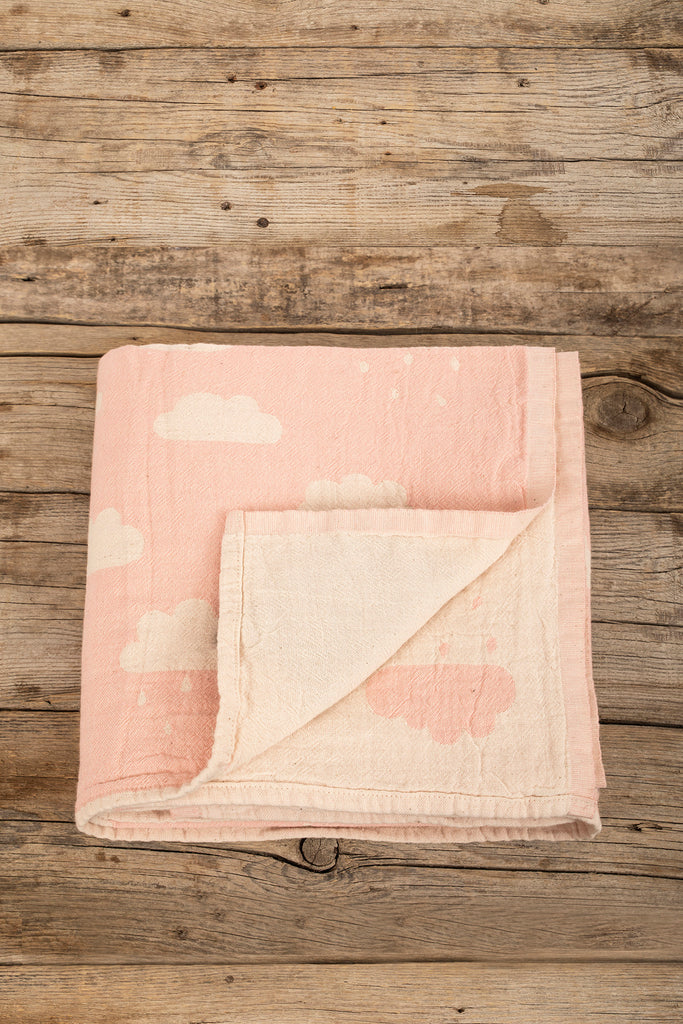 Cloud Baby Throw - Light Pink, TAMA