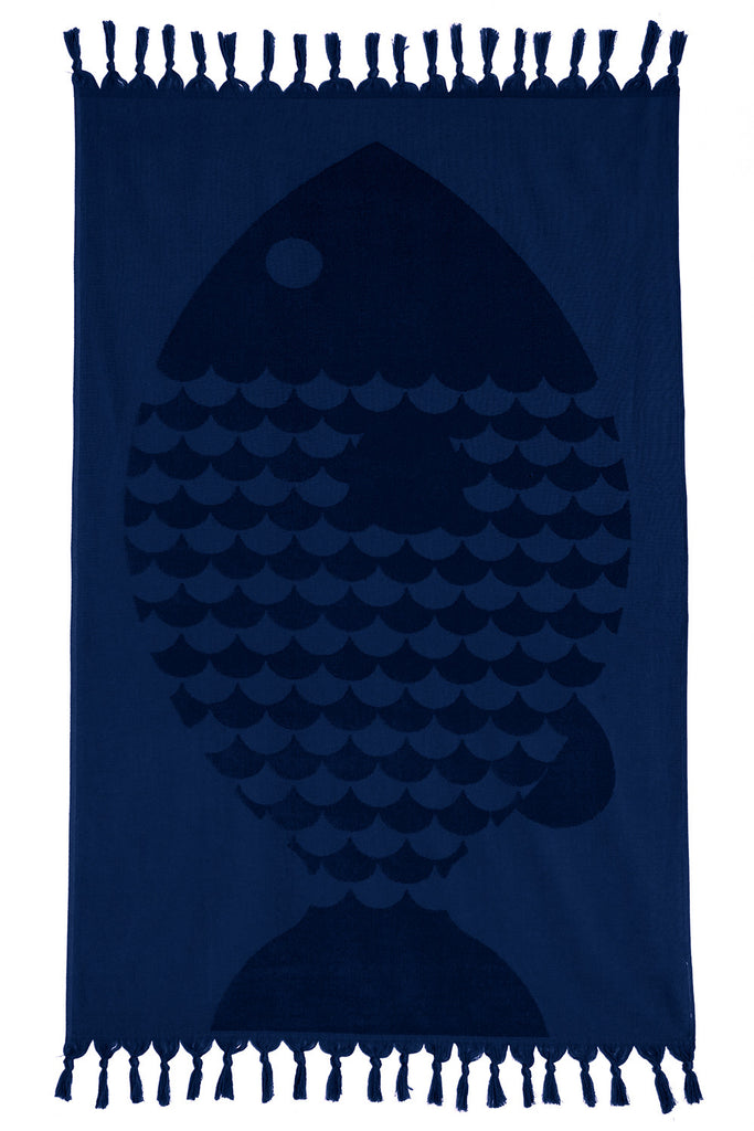 Marinero Towel - Navy, TAMA