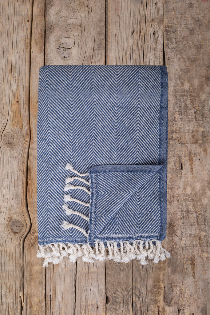 Ophelia Throw - Denim, TAMA
