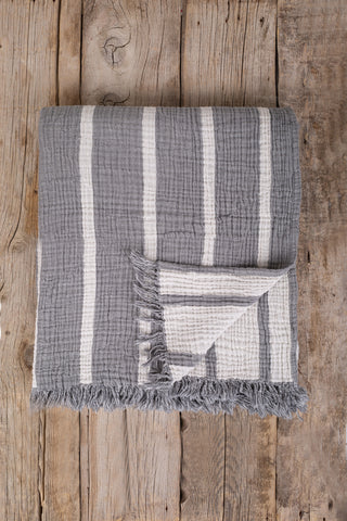 Coco Stripe Throw, TAMA