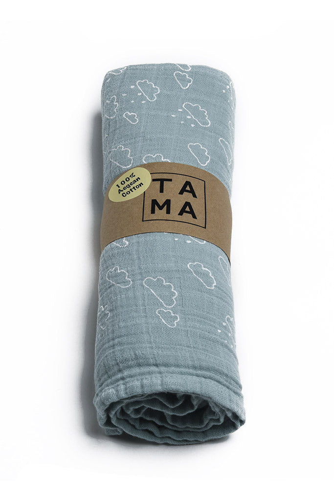 Cloud Muslin - Sea Green, TAMA