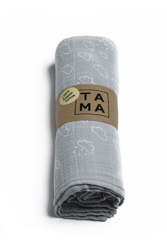 Cloud Muslin - Light Grey, TAMA