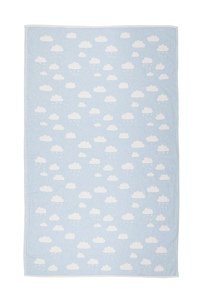 Cloud Baby Throw - Light Blue, TAMA