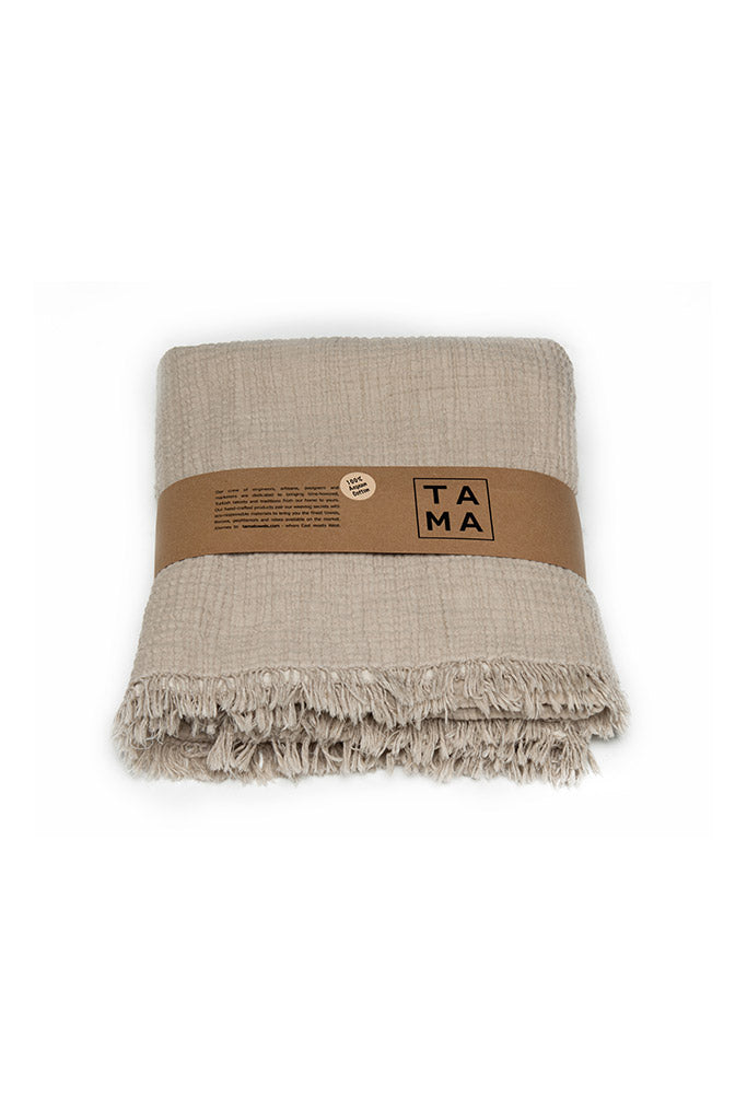 Coco Throw - Beige, TAMA