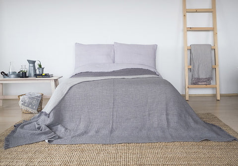 Coco Bed Cover - Dark Grey, TAMA
