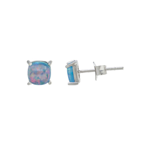 Tiny Round Opal Studs (More Colors)