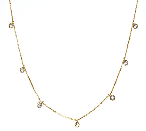 Dangling Diamond By Yard Necklace (More Metals)