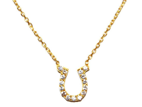 Pave Horeshoe Necklace