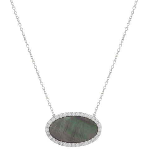 Pave Mother of Pearl Necklace