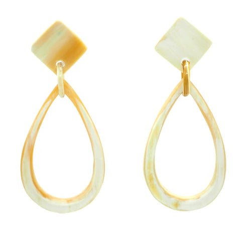 Natural Horn Drop Earrings