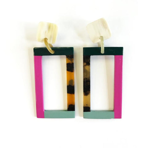 Mixed Colorblock Earrings