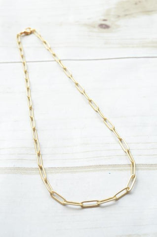 Matte Paper Clip Necklaces (More Colors)
