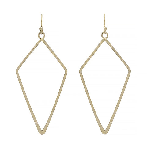 Matte Open Diamond Earrings
