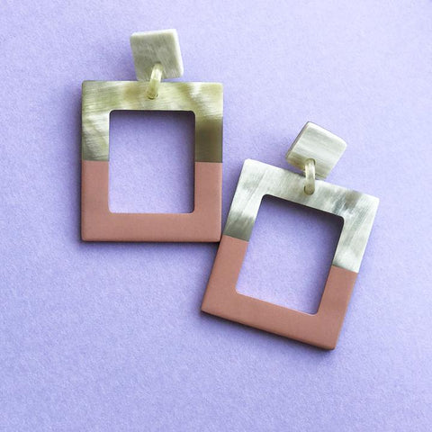 Bisque Horn Earrings