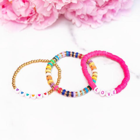 Rainbow Hearts Love Set