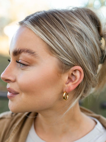 Farrah Chunky Hoops - Small