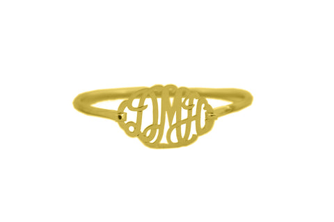 Lace Monogram Bangle Bracelet