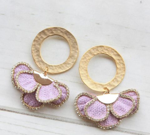 Celine Earrings - Lavendar