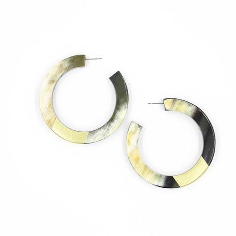 Gold Dipped Horn Hoops