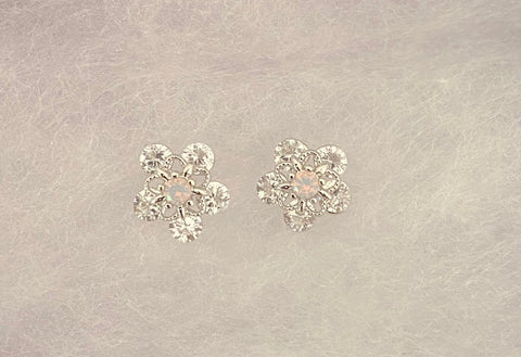 Opal Daisy Studs (More Metals)
